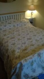 Double bed throw / bedspread