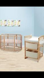 Stokke Cot And Changing Table
