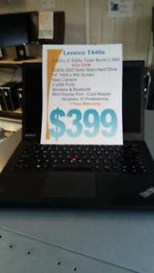 Lenovo T440s Ultrabook - i5 Intel - 8Gb - 128Gb SSD - 1 Year Warranty only $399 !