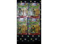 RARE 1988 Teenage Mutant HERO Turtles Figures! Leonardo, Michelangelo, Donatello, Raphael, MOC Ninja