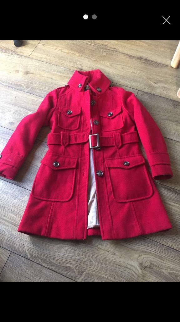 7c4f575fc Girls red next military coat age 7-8