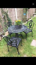 Garden table and chaors