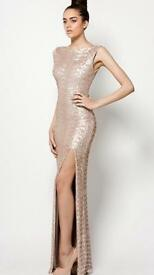 Ono uno champagne sequin formal dress size 4-6