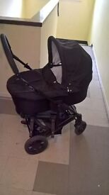 mamas papas pram ,pushchair car seat travel 3in1 black come ls from cig and pet free home