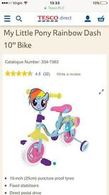 "My little pony 10"" bikes brand new"