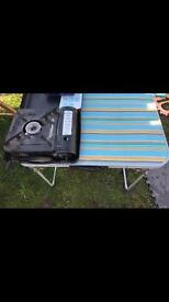 Camping table and stove