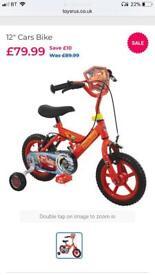 "Disney Cars bike 12"" brand new!!!"