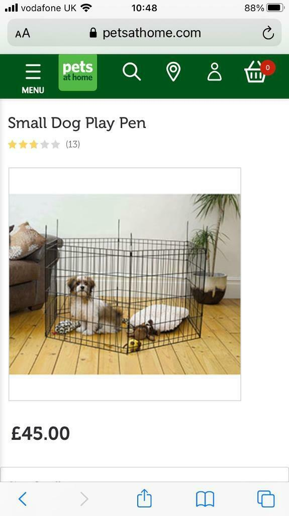 Small Dog Cat Puppy Folding Play Pen Black Rrp 45 In Kirkstall West Yorkshire Gumtree