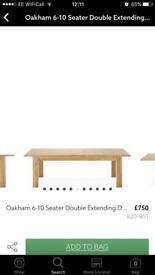 Next Dining room table oak