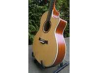 Crafter TGA E06 electro-acoustic steel string guitar with high quality gig case