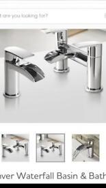 BARGAIN TAPS Waterfall bath and basin tap set