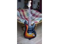 Fender Squier Silver Series Stratocaster electric guitar - Japan - '92-'94 - Brown Sunburst