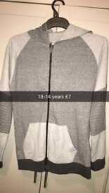 Hooded top age 12-13 new