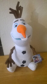 NEW,FROM DISNEY FILM FROZEN, 8 INCH OLAF, £3 EACH, OR 2 FOR £5, S5.