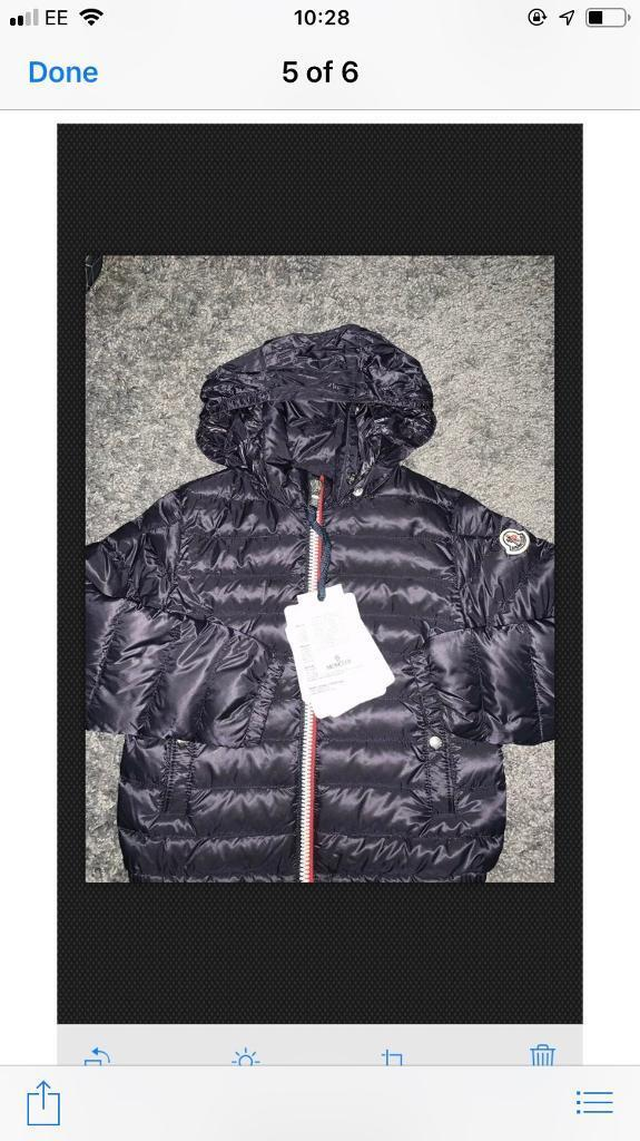 15550d27e39a Boys real genuine moncler coat brand new with tags age 4