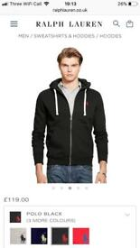 Ralph Lauren men's Black zip up hoody