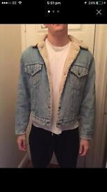 Vintage Levis denim wool lined jacket