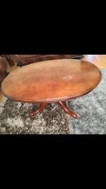 Regeny style oval coffee table
