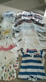 22 baby vests - fit 3-6 months