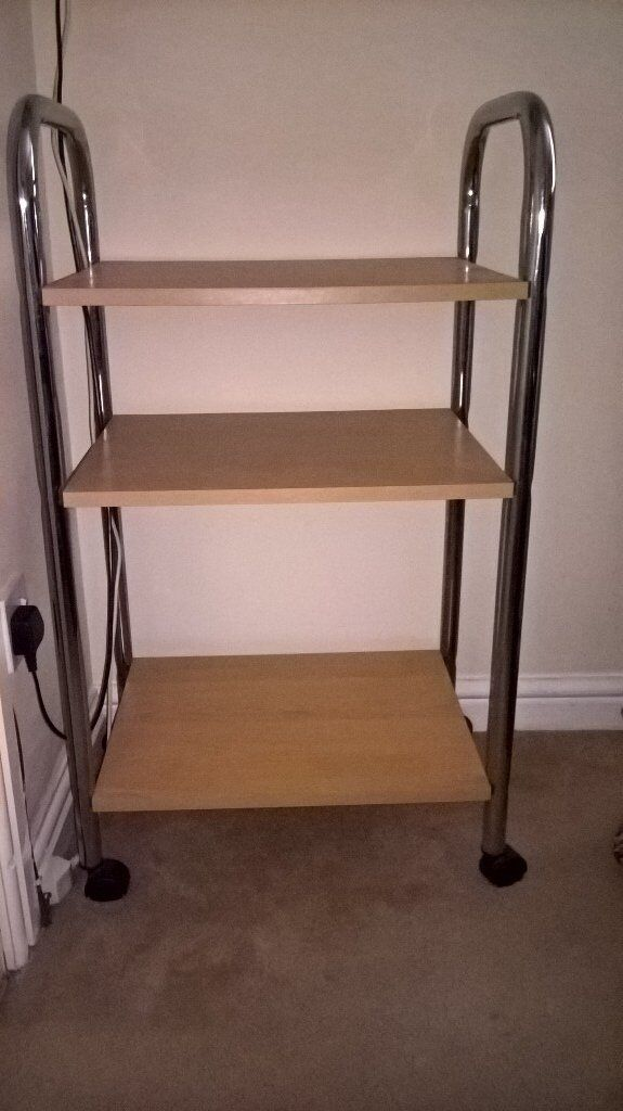 wheeled shelving unit