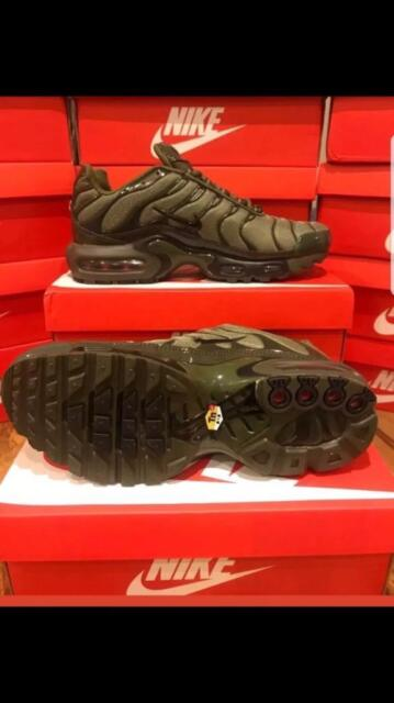 6349165049 Nike tns Air Max Plus New In Box olive green Tn | in New Basford ...