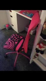 Girls Ikea Hot Pink office/desk chair. Excellent condition. £10.