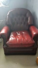 Leather Suite, 3 piece excellent, condition