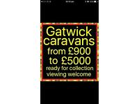 Caravans from £800 to £5000 Open all day Sunday