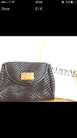 Black New Versace Parfums Clutch Bag