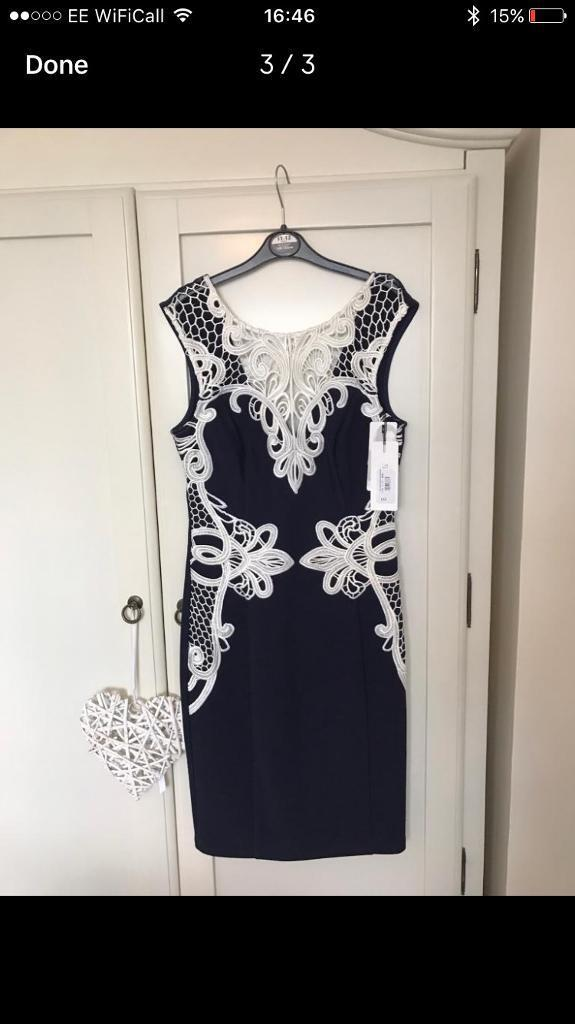 Navy Lipsy dress brand new with tags size 8
