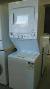 62- NEUF - NEW Laveuse Sécheuse SUPERPOSÉES GE UNITIZED SPACEMAKER Washer Dryer