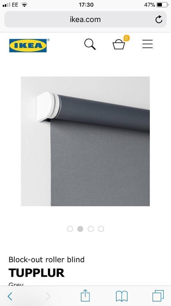 Grey black-out roller blind