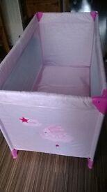 pink babies travel cot