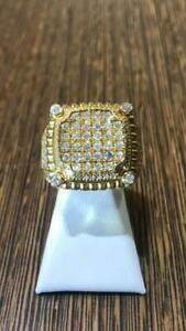 10k Yellow Gold 1.75 Carat Diamond Ring Size 10 9.5 grams