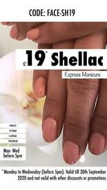 £19 Shellac Offer & 30% Off Gel Nails & Classic Manicure & Pedicures in Clapham Junction Salon