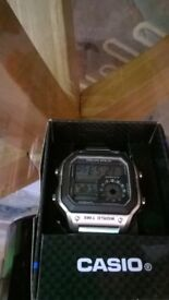 Casio gent's watch, still boxed, as new with 10 year battery.