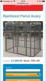 Aviary outdoor garden large parrot bird cage