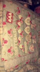 Vintage hearts and jewellery hanger