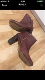 Zara all leather size 6 ankle boots