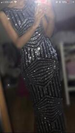 Black and silver formal dress for sale
