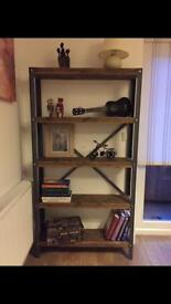 Beautiful very solid industrial style hand made shelf unit - different sizes upon request