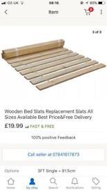 Bed slats single bed