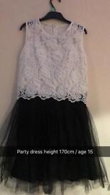 girls party dress age 15 /170cm