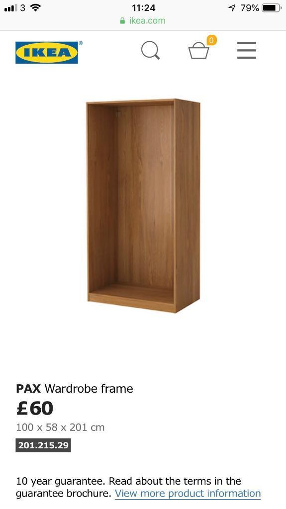 e422799b3 Ikea malm Oak veneer wardrobe - price lowered to £45 to sell this weekend