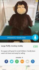 Large fluffy monkey teddy
