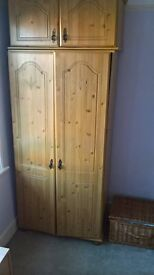 Tall Pine Wardrobe for repair - Collect from Basingstoke asap, free!