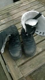 Dr Marten mid length high quality black boots size 3 uk or 36