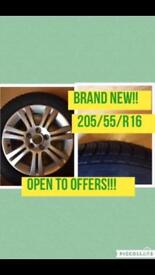 Brand new Goodyear tyre 205/55/R16 with new Alloy