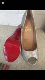 Silver glitter Christian louboutin heels 4
