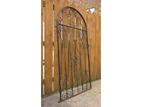 Wrought Iron Pedestrian Gate - Black